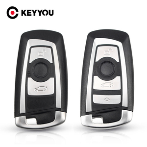 KEYYOU For BMW CAS4 F 3 5 7 Series E90 E92 E93 X5 F10 F20 F30 F40 Key Case Cover Replacement 3/4 Button Shell