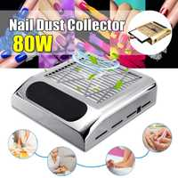 80W 110~220V Strong Power No spilling Filter Type Nail Suction Dust Collector Machine Vacuum Cleaner Fan