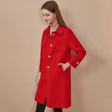 Куртка оверсайз женская 2020 зимнее пальто с лацканами было