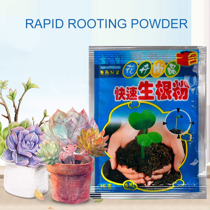 Fast Plant Flower Rooting Powder 1pc Quick Growth Transplant Fertilizer Increase Survival Rate Rooting Seed Fertilizer Garden