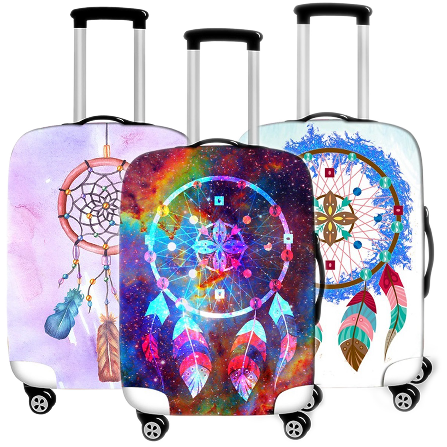Aeolian Bells Luggage Cover Case Protective Travel Accessories Waterproof Thicken Elastic Suitcase Trunk Case 18-32 Inch XL