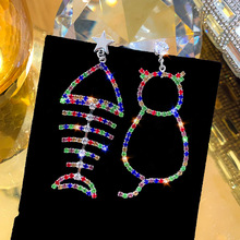 european american exaggerate big swing earrings for women geometric shiny tassel long drop brincos fashion jewelry