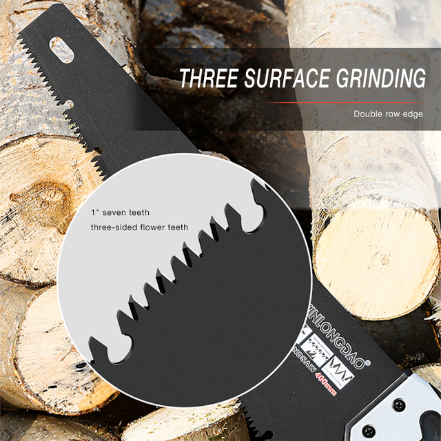 AI-ROAD Bypass Heavy Duty Dry Wood Pruning Saw With Hard Teeth Extra Long Blade Hand Folding Cutting Saw Garden Cutter Tool 3