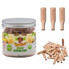 HONEYPUFF прокатки древесины фильтр советы с сахарным вкусом 40 мм курительный Деревянный рот фильтр наконечник табака ручной трубы аксессуары