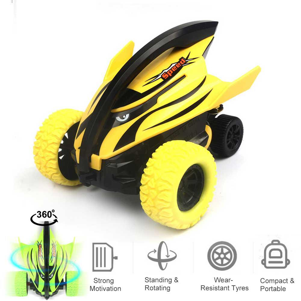 Mini Pull Back Car 360 Inertial Stunt Drift Car Model Toys For Boys Kids ABS Plastic Vehicle Friction Powered Cars For Kids Gift