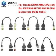Para motocicleta motobike obd2 conector para yamaha 3pin 4pin 6pin para honda/ktm/suzuki/ducadi/kawasaki moto obd extensão cabo