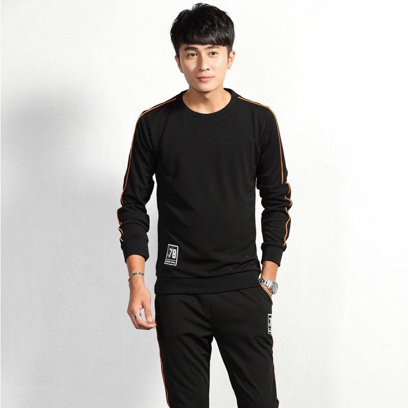 2018 Autumn Men Leisure Sports Suit Social Fella Youth Korean-style Slim Fit Trend Cool Handsome Set