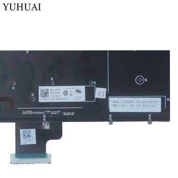 新しい英国ノートパソコンのキーボードの Dell Precision M3800 XPS 15 9530 黒のキーボード