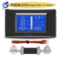 PZEM15 0-200V 0-300A Car Battery Tester DC Current Power Internal/External Resistance Residual Electricity Meter with Shunt