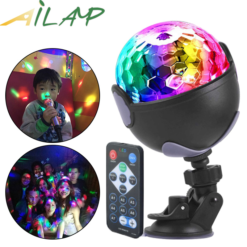 Sound Activated Rotating Disco Lights Colorful Projector Stage Light Ktv Bar Strobe Light Holiday Dj Light Christmas Party Light