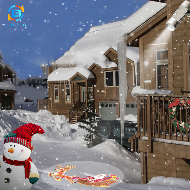 Christmas Decorations For Home Outdoor 2019 Portable Gobo Projector HD Rotary Image Snowman Deer Santa Claus Support Custom Gobo|Advertising Lights| |  - title=