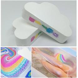 Cuidado de la piel Natural nube forma arco iris baño burbuja exfoliante hidratante baño bola bombas cuidado de la piel sal de baño romántica