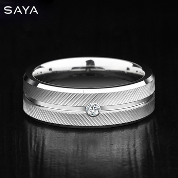 7mm Width Plated Tungsten Carbide Rings Brushed with High Quality,Customized