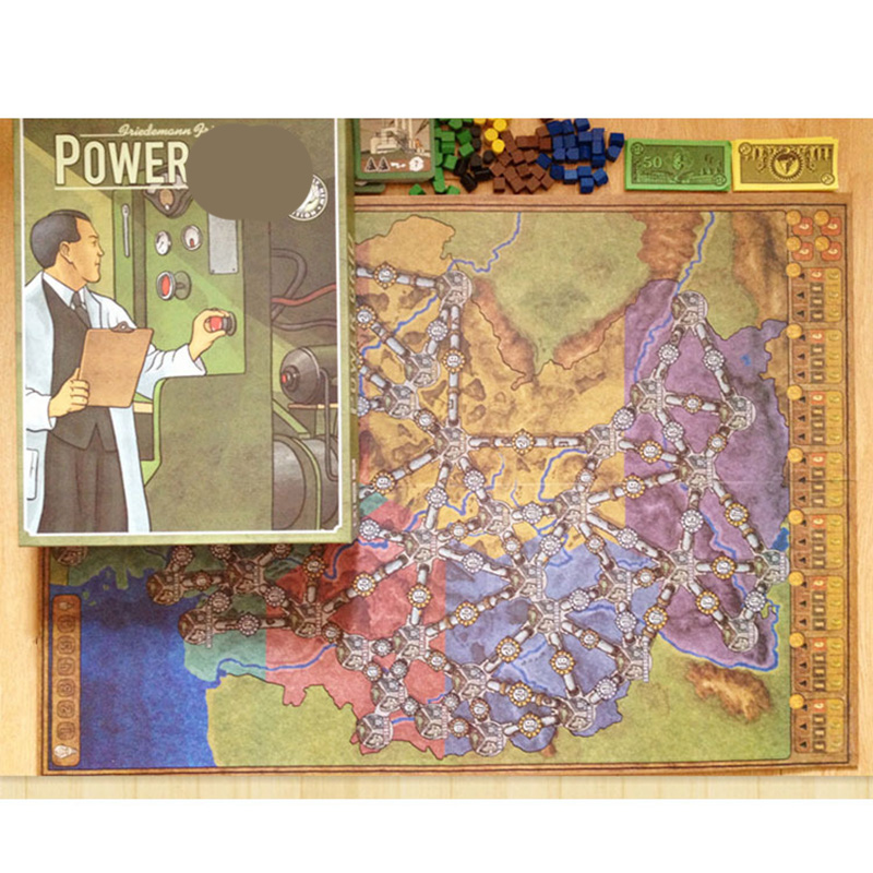 Power  Board Game English Verison Cards Game Germany + United States Map