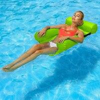 PVC Sommer Aufblasbare Faltbare Schwimm Reihe Schwimmen Pool Wasser Hängematte Luft Matratzen Bett Strand Wasser Sport Liege Stuhl