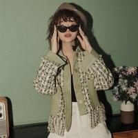 Green Plaid Tweed Jacket