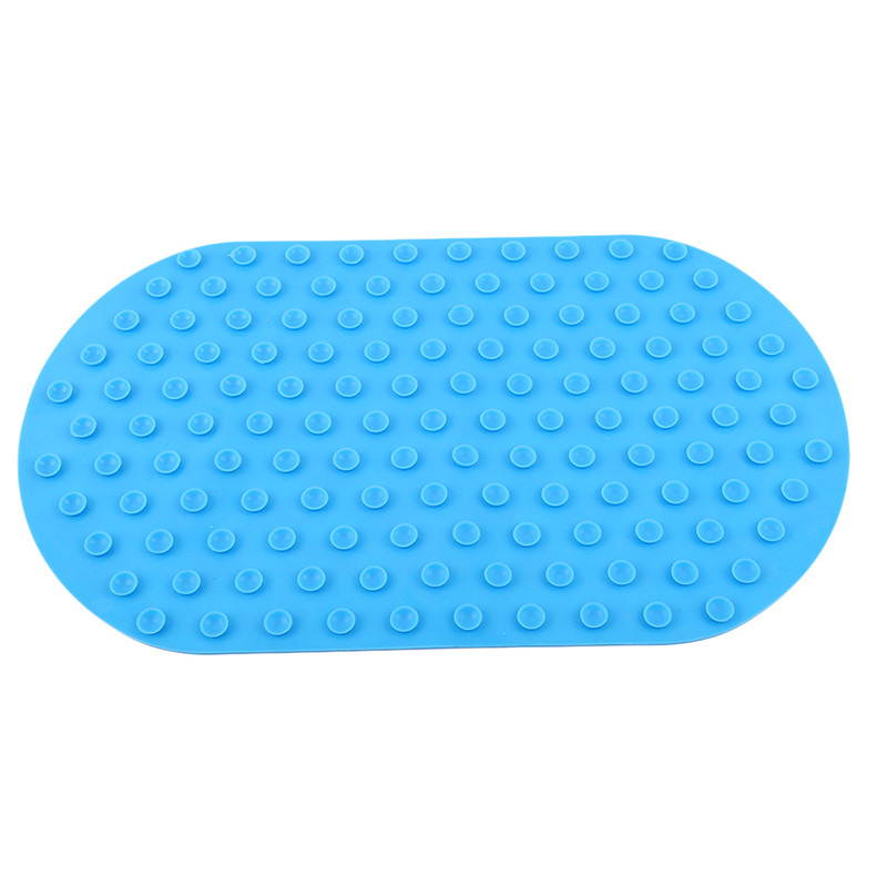 Brand Baby Anti-Slip Bath Mat 41*24cm Seat Powerful Suction Silicone Non-Toxic Baby Tub 5 Colors Newborn Bath Mat