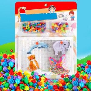 Image 2 - Çivi yazım bulmaca çocuk için oyuncak hediyeler 2019 yenilik çocuk kurulu mantar tırnak kombinasyonu yapı taşları bulmaca oyunu mantar