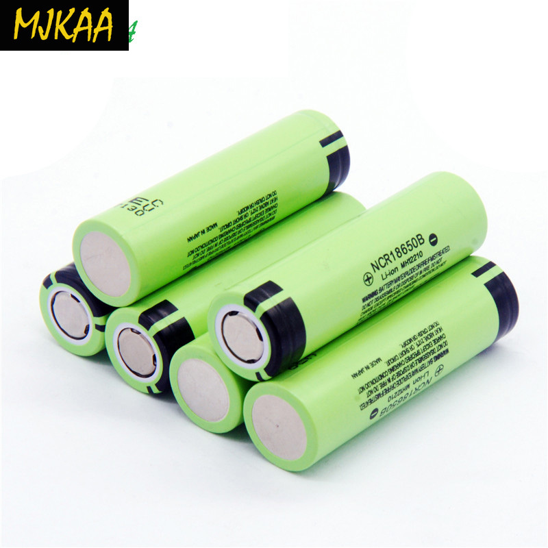 MJKAA 2-6pcs 3.7V NCR <font><b>18650</b></font> 3400mAh Li-ion Rechargeable Battery <font><b>NCR18650B</b></font> for Flashlight image