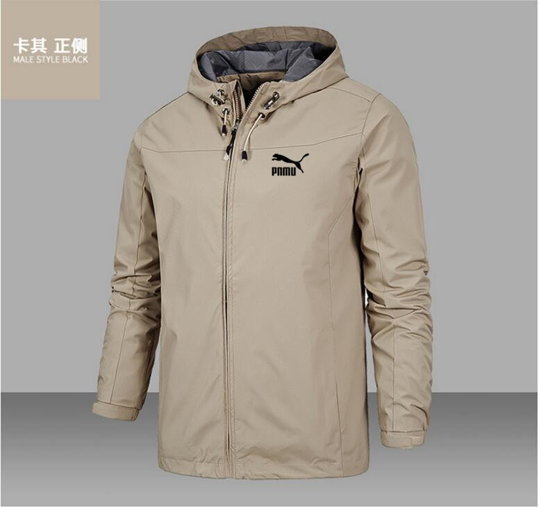 2020 new fashion men's jacket coat Hooded Coat long sleeve zipper coat wind proof and waterproof spring and autumn style 5