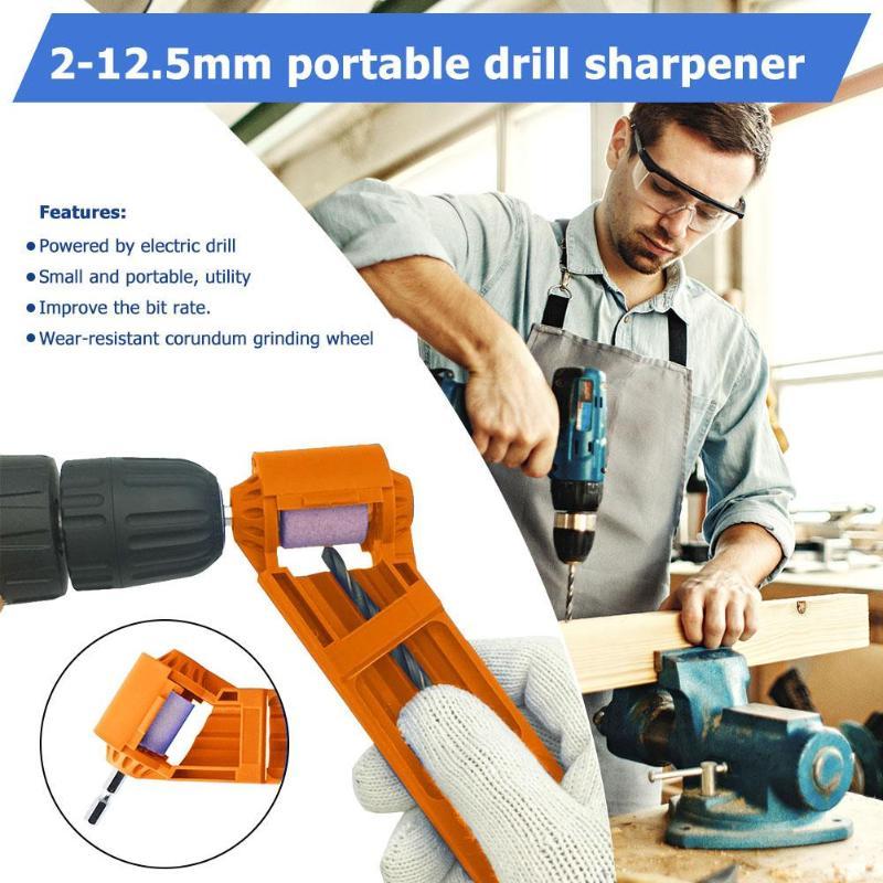 2 15 5mm Portable Drill Bit Sharpener Corundum Grinding Wheel for Drill Polishing Grinder Powered Tool Drill Bit Sharpener Newst in Grinders from Tools