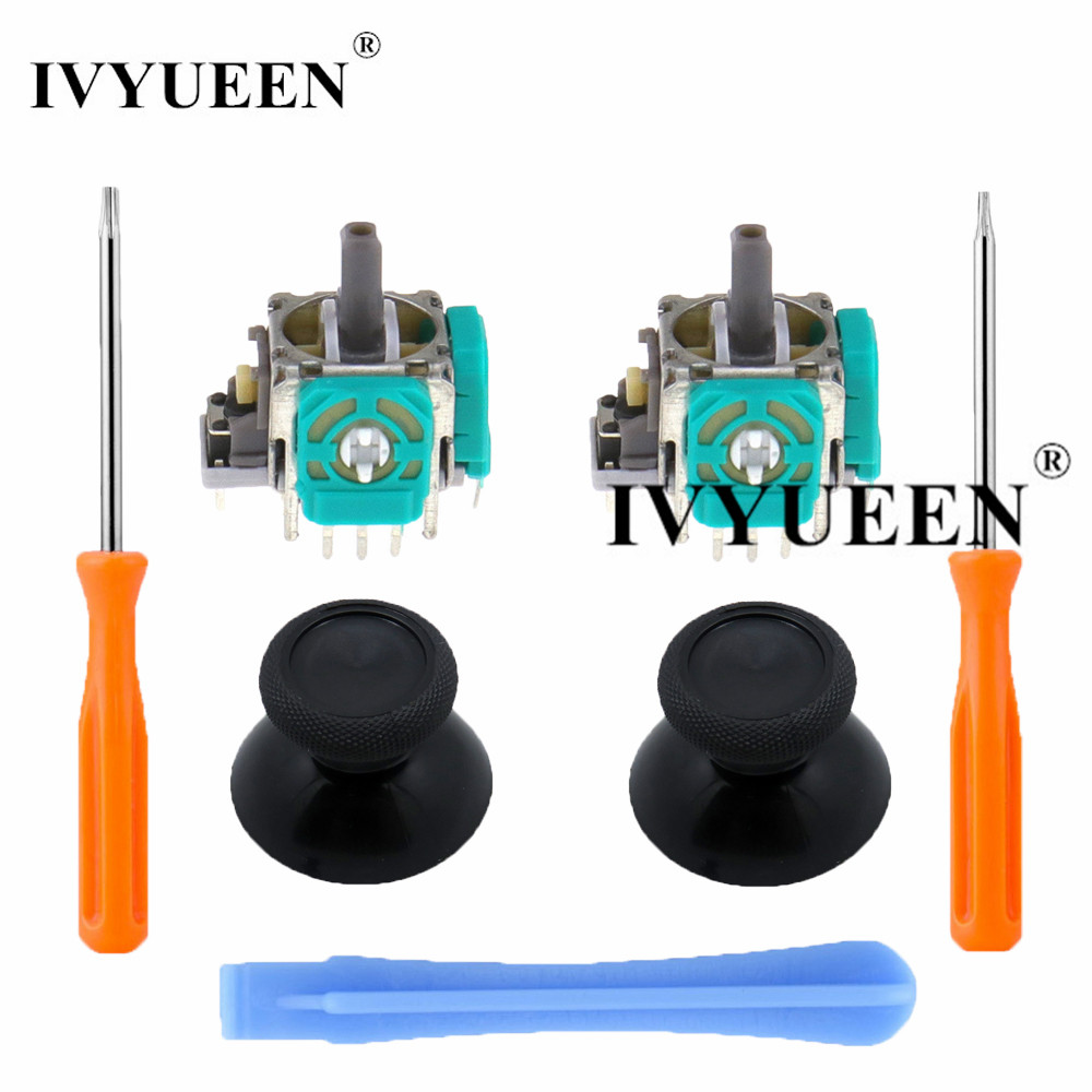 IVYUEEN 2 Sets 3D Analog Stick Sensor Module Potentiometers & Joystick For XBox One Controller Thumbsticks With T8 T6 Tool