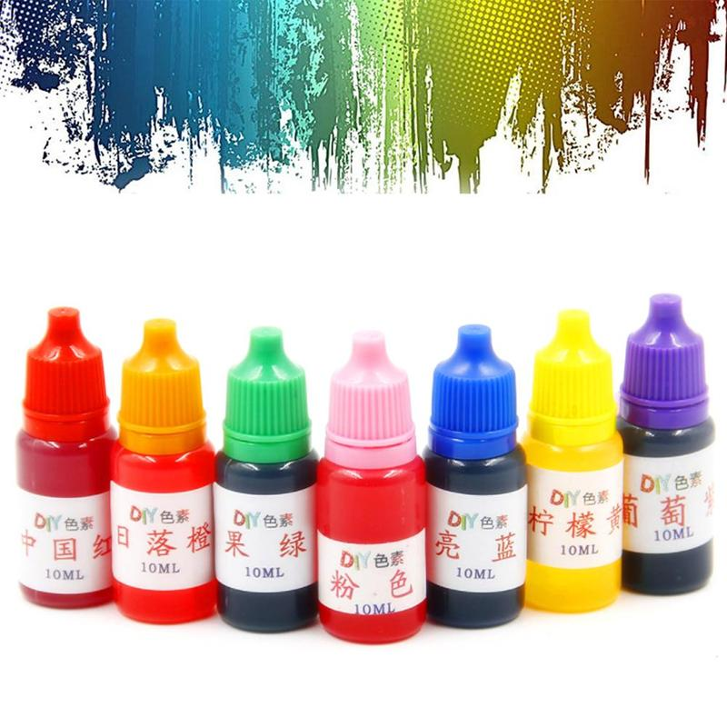7 Colors Dyeing Resin Pigment Educational Toys For Kids Dye Colorant Set Pigment Decor Toys Filler Safe Liquid Pigment 10ml