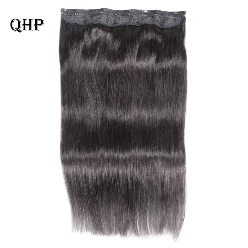 Hair Straight  Clip In Human Hair Extensions #1#1B #4 #8 #613 #27 #32 Remy Hair 5 Clips in 1 piece Human Hair