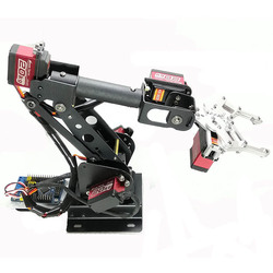 6 DOF Robotic Arm Gripper Claw Manipulator for Arduino/STM32/51 Microcontroller Teaching Robot Kit with 6pcs 180 Degree Servos