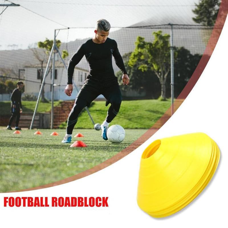 5 Pcs Football Training Logo Plate Outdoor Sports Football Basketball Roller Cone Tapered Auxiliary Training Supplies