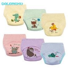 DALEMOXU 6 warstw dziecko wodoodporne spodnie treningowe niemowlę maluch bawełna zmiana pieluchy pieluchy z tkaniny wielokrotnego użytku zmywalne majtki