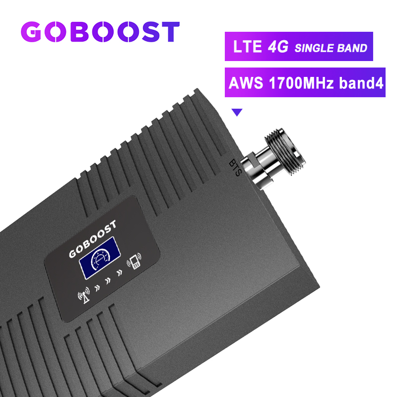 4G Repeater Band4 AWS 1700mhz Cellular Amplifier LTE Cellular Signal Booster 4G Signal Booster Cell Phones Repeater LCD Display