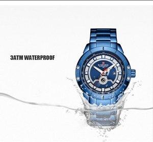 Image 3 - Relojes deportivos para hombre de marca de moda NAVIFORCE, relojes de pulsera militares de acero inoxidable de cuarzo para hombre, reloj Masculino