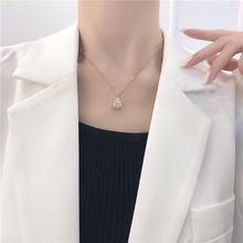 Yangliujia с циркониевым кристаллом цепочка до ключиц французское