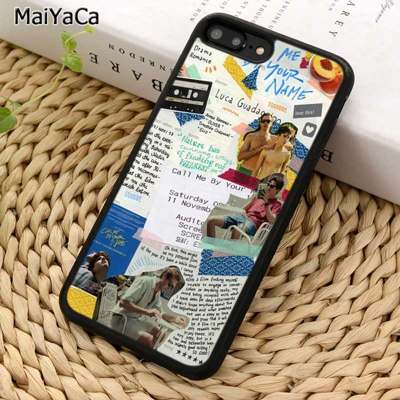 MaiYaCa Call Me โดยของคุณชื่อโทรศัพท์กรณีสำหรับ iPhone X XR XS 11 PRO MAX 5 6 7 8 PLUS Samsung Galaxy S5 S6 S7 S8 S9 S10