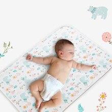 Cartoon Baby Diaper Changing Mat Soft Cotton Large Diaper Changer For Newborn Waterproof Changing Pads Mattress Floor Play Mats