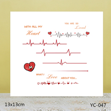 AZSG love Clear Stamps/Silicone Transparent Seals for DIY scrapbooking Card Making 13*13cm