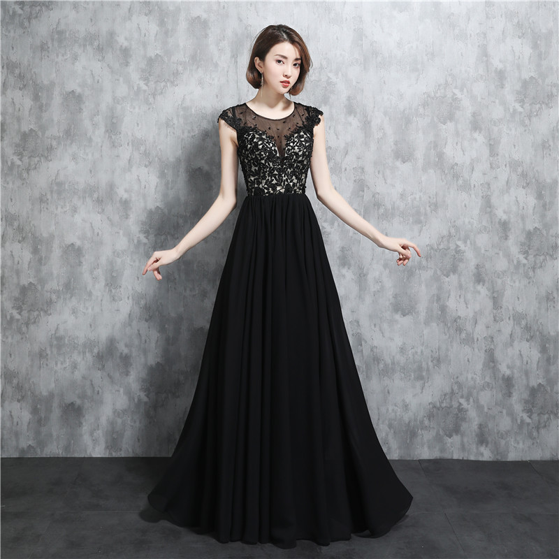 Chiffon Jewel Neck 2020 Top Dress Bridesmaid With Appliques Wedding Party Gowns Bride Maid Dresses