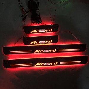 Image 1 - 4 adet/takım için geçerli ACCORD LED aydınlatma eşik aydınlatma eşik aşınmaya dayanıklı plaka karşılama pedalı dekorasyon için honda
