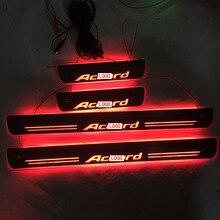 Éclairage seuil déclairage, résistant à lusure, plaque de bienvenue, pédale de décoration pour hongdaa, 4 pièces/ensemble applicables à laccord LED