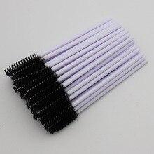 1000pcs/lot Eyelashes Brushes Disposable Eyelash Extension One off Eyebrow Mascara Wands Applicator White Handle Makeup Brush