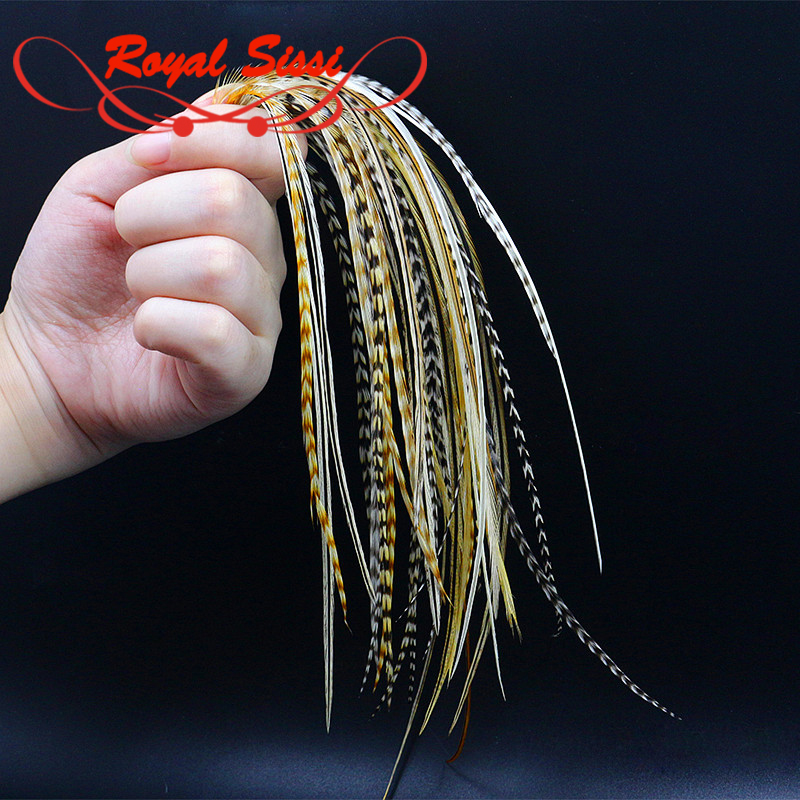 2019New Whiting Fly Tying Feather 20feathers Mixed NAT Colors Size12#-14# Dry Fly Tying Skinny Rooster Saddle Hackles 6-9'' Long