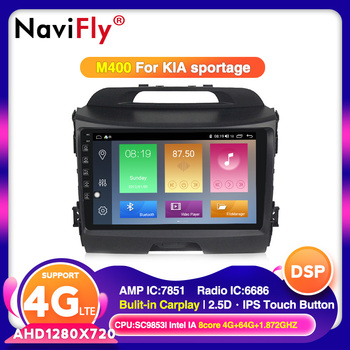 NaviFly Android 10.0 4G+64G DSP Carplay IPS For KIA Sportage 3 2010 2011-2016 Car Radio Multimedia Video Player Navigation GPS image