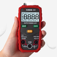 Smart Multimeter Digital True RMS Auto Range Professional LCD Automatic Voltage Ammeter Tester Red/Yellow