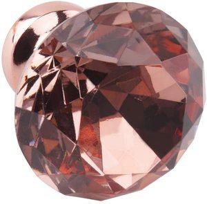 12/20Pcs Rose Gold Diamant Form Schrank Knöpfe und Ziehen Griff für Küche Bad Schrank Tür Schrank Schrank