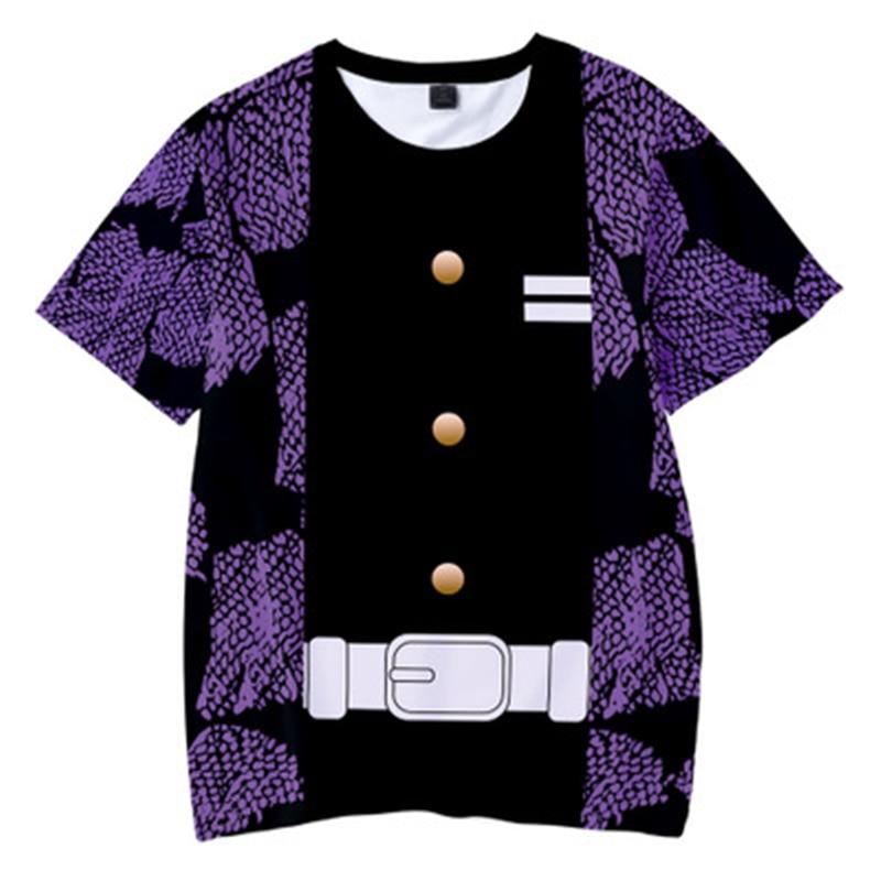 Hd33eca8ff154431da675390412857751G Kids Boys Devils killer T-shirts 3d Print Cosplay Japanese Ghost blade Children Summer Short Sleeve Tshirts Demon Slayer Clothes