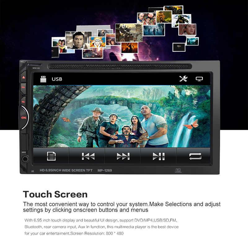 TOSPRA 2 ディンユニバーサルカーラジオ HD マルチメディアプレーヤータッチスクリーンカーオーディオ Bluetooth Autoradio MP5 プレーヤー CR-V