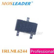 Mosleader IRLML6244 SOT23 3000PCS IRLML6244PBF IRLML6244TR IRLML6244TRPBF N Channel 20V 3A 6.3A จีนคุณภาพสูง