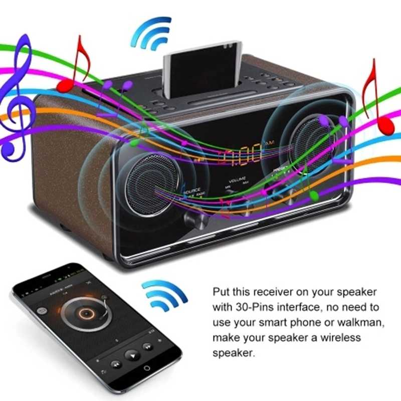 AMS-Bt4854 Bluetooth Audio Ricevitore 30 Spilli Plug and Play per Dock Station di Musica Digitale per il Sistema di Altoparlanti Sistema di Musica