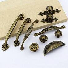Tirador de armario Puerta de cocina tocador cajón tirador de armario bronce clásico antiguo y tirador accesorios de Muebles clásicos